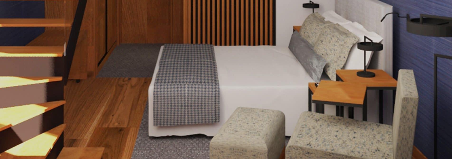 Cama em Suite Duplex NEYA Porto Hotel