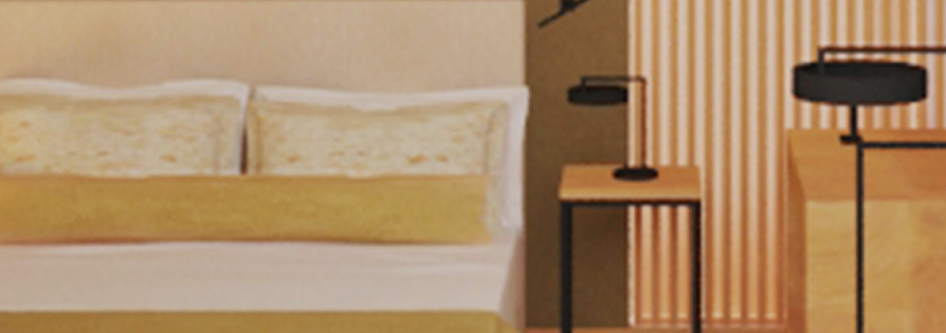 Pormenor de cama em suite NEYA Porto