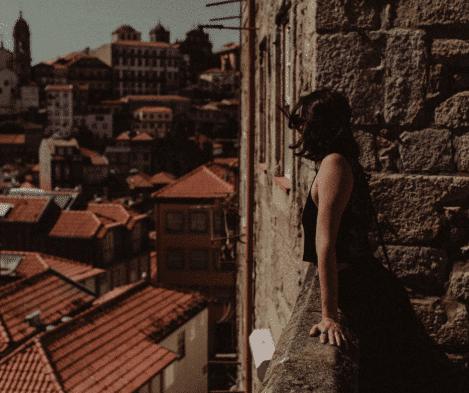 Varanda de monumento no Porto