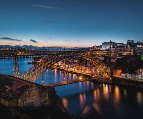 Ponte D.Luís à noite