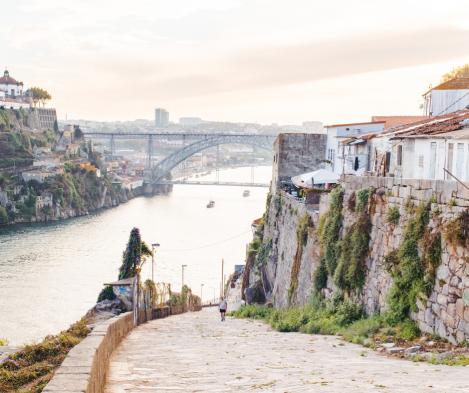 Jogging na ribeira do Porto